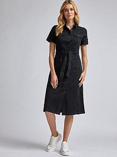 dorothy-perkins-denim-shirt-dress-black