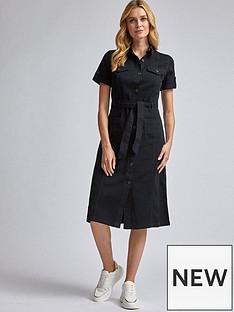 dorothy-perkins-denim-shirt-dress-black