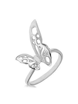 the-love-silver-collection-sterling-silver-rhodium-plated-filigree-butterfly-ring