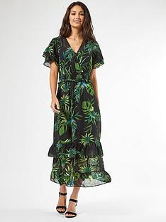 dorothy-perkins-ava-tropical-dress-green