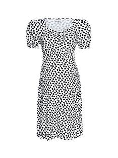 dorothy-perkins-maternitynbspspot-ruched-dress-mono