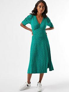 dorothy-perkins-petite-spot-jersey-midi-dress-greennbsp