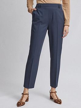 dorothy-perkins-high-waist-slim-leg-trousers--nbspnavynbsp