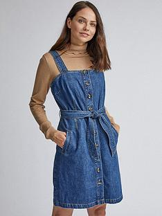 dorothy-perkins-belted-pinny-dress-blue