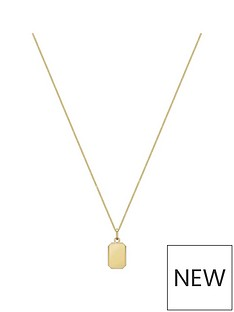 love-gold-9ct-yellow-gold-bevelled-edge-rectangle-pendant
