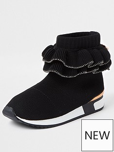 river-island-mini-girls-ruffle-hi-top-trainersnbsp--black