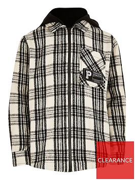 river-island-boys-hooded-check-shirt-black
