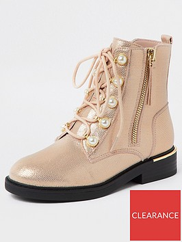 river-island-girls-pearl-eyelet-gold-trim-bootsnbsp-nbsppink