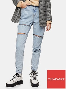 topshop-ripped-mom-tapered-jeans-bleach