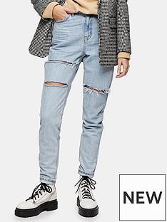 topshop-sofia-rip-mom-jeans-bleach-blue