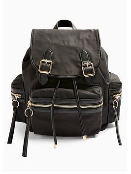 topshop-nylon-backpack-black