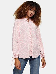 topshop-wave-printnbspconsidered-shirt-pink