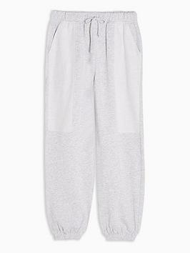 topshop-reverse-brushed-joggers-grey