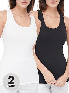 v-by-very-valuenbsp2-pack-scoop-neck-vest-blackwhite