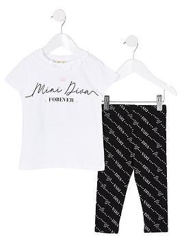 river-island-mini-girls-diva-print-t-shirt-amp-legging-set-white