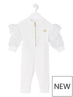 river-island-mini-girls-cozy-half-zip-mesh-sleeve-jumpsuitnbsp-nbspwhite