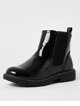 river-island-girls-patent-chunky-chelsea-boots-black