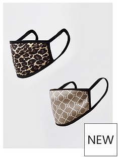 river-island-2-pack-face-coverings-animallogo