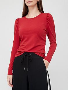 v-by-very-longnbsppuff-sleeve-top-red