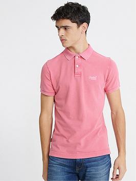 Superdry Superdry Vintage Polo Shirt - Pink, Pink, Size 2Xl, Men