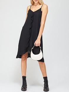 river-island-ruffle-trim-slip-dress-black
