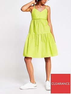 river-island-ladder-trim-smock-dress-green
