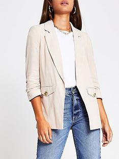 river-island-pocket-detail-blazer-beige