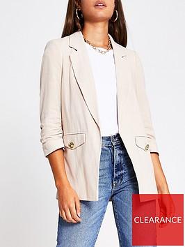 river-island-pocket-detail-blazer-beige