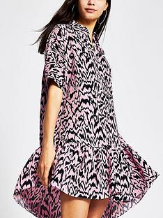 river-island-printed-shirt-smock-dress-pink