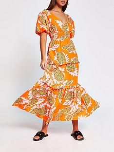 river-island-paisley-print-dress-orange