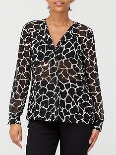 v-by-very-georgette-blouse-mono-print