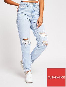 river-island-carrie-high-waist-ripped-jeans-blue