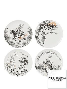va-alice-in-wonderland-set-of-4-side-plates