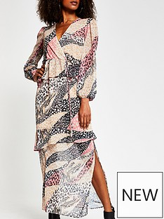 river-island-mixed-animal-print-chiffon-peplum-maxi-dress-pink