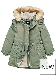 v-by-very-girls-faux-fur-lined-parka-sage