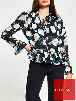 river-island-frill-button-blouse-floral