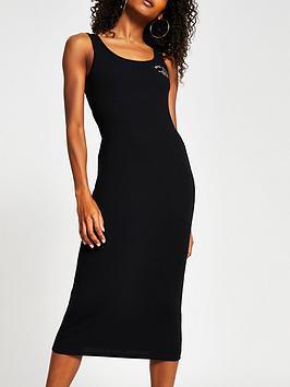 river-island-jersey-rib-column-midi-dress-black