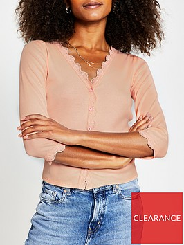 river-island-lace-detail-jersey-cardigan-pink