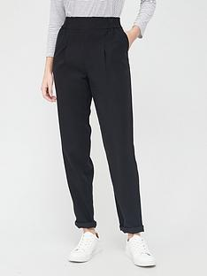 v-by-very-shirred-waist-band-twill-trousers-black