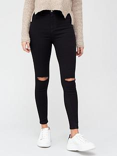 v-by-very-addison-super-high-waist-super-skinny-jean-with-knee-rips-black