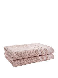 catherine-lansfield-malawa-geo-band-2-x-bath-towel