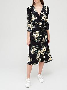 v-by-very-long-sleeve-wrap-midi-dress-blackfloral