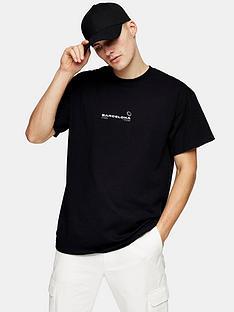 topman-barcelona-print-short-sleeve-t-shirt--nbspblack