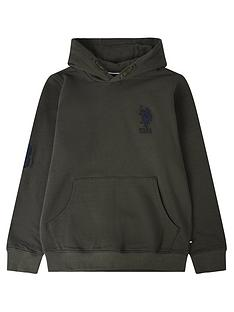us-polo-assn-boys-player-3-hoodie-khaki