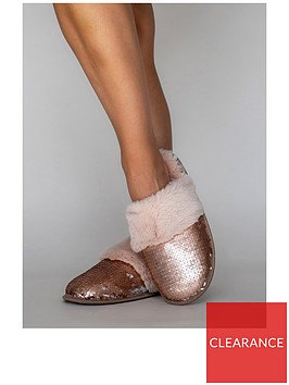 boux-avenue-sequin-mule-slipper-pink
