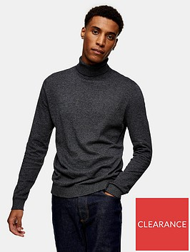 topman-knitted-roll-neck-jumper-charcoal