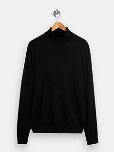 topman-knitted-roll-neck-jumper-black