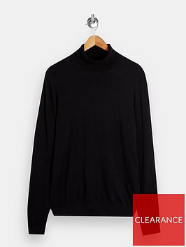 topman-knitted-roll-neck-jumper-black
