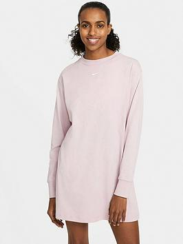 nike-essential-long-sleeve-dress-lilac