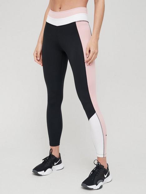 nike-the-one-colourblock-leggings-blackwhitepink